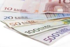 Verschillende Euro Stock Fotografie