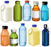 Verschillende flessen Stock Fotografie