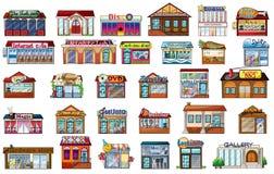 Verschillende gebouwen vector illustratie