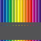 Verschillende gekleurde pennen Stock Foto