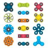 Verschillende gekleurde spinners Royalty-vrije Stock Afbeelding