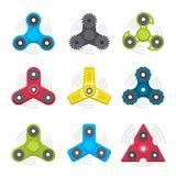 Verschillende gekleurde spinners Royalty-vrije Stock Afbeeldingen