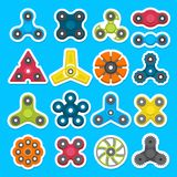 Verschillende gekleurde spinners royalty-vrije illustratie