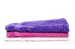 Verschillende gekleurde washandjes royalty-vrije stock afbeeldingen