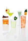 Verschillende gemengde dranken Stock Foto