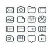 Verschillende geplaatste Webpictogrammen Stock Afbeeldingen