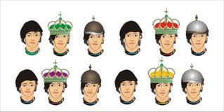 Verschillende gezichten van mensen vector illustratie