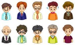 Verschillende gezichten van zakenlieden vector illustratie