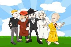 Verschillende godsdienstmensen Stock Fotografie