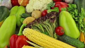 Verschillende groenten stock footage