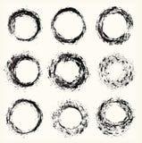 Verschillende grungecirkels, vector Stock Afbeeldingen