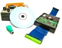 Verschillende hardware op wit Stock Afbeeldingen