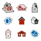Verschillende huizen vectorpictogrammen voor gebruik in grafisch ontwerp, reeks van royalty-vrije illustratie