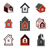 Verschillende huizen vectorpictogrammen voor gebruik in grafisch ontwerp, reeks van vector illustratie