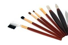 Verschillende hulpmiddelen voor samenstelling en manicure Stock Afbeeldingen