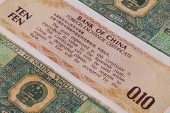 Verschillende Juan bankbiljetten van China Royalty-vrije Stock Foto's