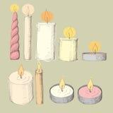 Verschillende kaarsen Royalty-vrije Stock Afbeeldingen