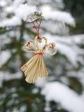 Verschillende Kerstmisdecoratie het hangen Kerstmis Royalty-vrije Stock Afbeeldingen