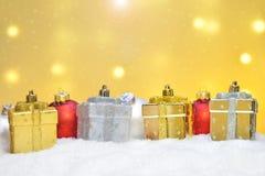 Verschillende Kerstmisornamenten Stock Afbeelding