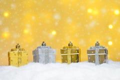 Verschillende Kerstmisornamenten Stock Foto's
