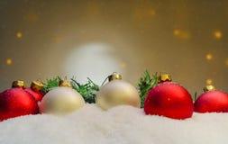 Verschillende Kerstmisornamenten Royalty-vrije Stock Afbeelding