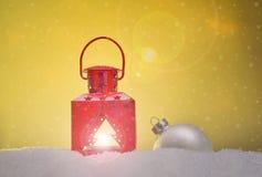 Verschillende Kerstmisornamenten Stock Afbeeldingen