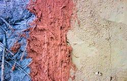 Verschillende kleur van klei en zandmixure met riet royalty-vrije stock foto's