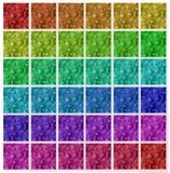 Verschillende kleuren naadloze bloemrijke achtergronden Royalty-vrije Stock Foto