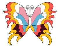 Verschillende kleuren van het vlinder de heldere beeld Royalty-vrije Stock Afbeelding
