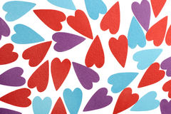 Verschillende kleuren van liefde Stock Afbeeldingen
