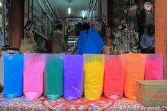 Verschillende kleuren voor verkoop in India Stock Afbeelding