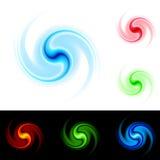 Verschillende kleurendraaikolk Stock Afbeelding
