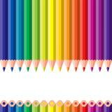Verschillende kleurpotloden Royalty-vrije Stock Fotografie