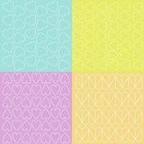 Verschillende kleurrijke patronen Stock Foto