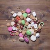 Verschillende kleurrijke snoepjes Smakelijk voedsel Royalty-vrije Stock Foto