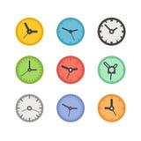 Verschillende klokkeninzameling vector illustratie