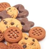 Verschillende koekjes stock foto's