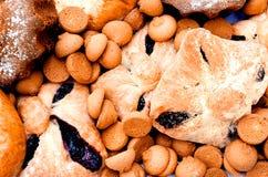 Verschillende koekjes en gebakjes Stock Foto