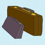 Verschillende Koffers Stock Afbeelding