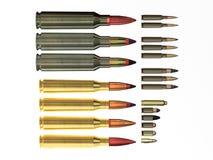 Verschillende kogels. Stock Afbeelding