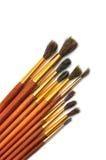 Verschillende kunstborstels Stock Afbeelding