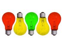 verschillende lamp Stock Afbeelding