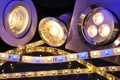 Verschillende LEDs Stock Fotografie