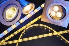 Verschillende LEDs Stock Afbeeldingen