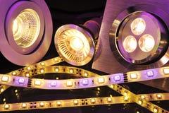 Verschillende LEDs Stock Foto's