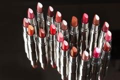 Verschillende Lippenstift stock afbeeldingen