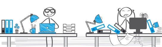 Verschillende manieren om te werken stock illustratie