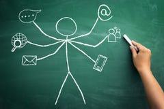 Verschillende manieren voor online mededeling Stock Fotografie