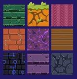 Verschillende Materialen en Texturen voor het Spel vector illustratie
