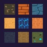 Verschillende Materialen en Texturen voor het Spel royalty-vrije illustratie